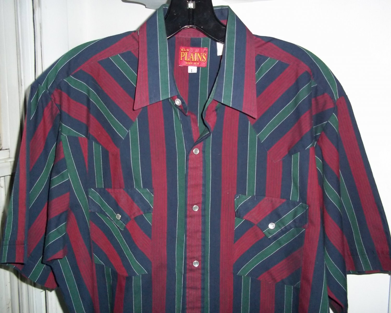 ELY PLAINS Western Pearl Snap Shirt - Men's L