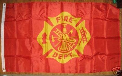 GENERIC FIRE DEPATMENT FLAG 3X5 3 X 5 VERY NICE NEW