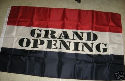 GRAND OPENING FLAG 3 X 5 3X5 NEW