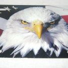 AMERICAN FLAG EAGLE LICENSE PLATE 6 X 12 NEW