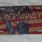 VOTE LIBERTARIAN LICENSE PLATE 6 X 12 NEW
