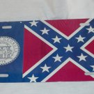 OLD GEORGIA STARS AND BARS STATE FLAG LICENSE PLATE 6 X 12 NEW