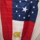 CONFEDERATE CIVIL WAR STARS AND BARS 11 STAR WITH HARP FLAG FLAG 3 X 5 3X5 NEW