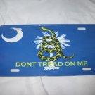 SOUTH CAROLINA GADSDEN FLAG LICENSE PLATE 6 X 12 NEW ALUMINUM
