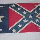 CIVIL WAR TEXAS REBEL FLAG LICENSE PLATE ALUMINUM 6 X 12 NEW