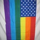 GAY RAINBOW STARS AND STRIPES FLAG 3 X 5 3X5 NEW