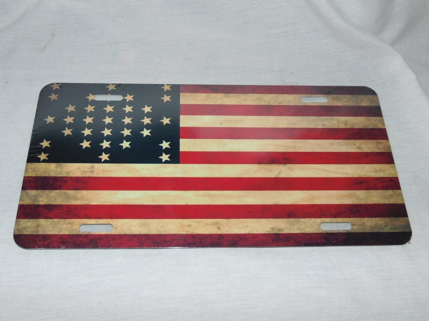 FORT SUMTER GARRISON FLAG LICENSE PLATE 6 X 12 INCHES NEW ALUMINUM