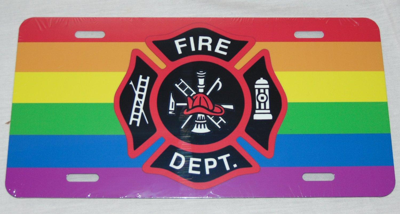 LGBT GAY LESBIAN FIREMAN FIREFIGHTER LICENSE PLATE 6 X 12 INCHES NEW ALUMINUM