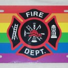 LGBT GAY LESBIAN FIREMAN FIREFIGHTER LICENSE PLATE 6 X 12 INCHES NEW ALUMINUM
