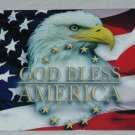 4 x 6 INCH ALUMINUM GOD BLESS AMERICA SIGN FOR LOCKERS TOOL CHESTS