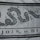 ORIGINAL JOIN OR DIE RATTLESNAKE FLAG 3 X 5 3X5 NEW