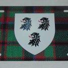 SCOTTISH CLAN BUCHAN BUCHANAN LICENSE PLATE 6 X 12 INCHES NEW ALUMINUM SCOTLAND