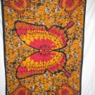 BUTTERFLY TAPESTRY BED COVER NWT 54X86