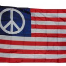 PEACE STARS AND STRIPES FLAG SIZE 3X5 3 X 5 NEW