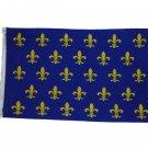 SMALL FLEUR DE LIS BLUE FRENCH FRANCE FLAG SIZE 3 X 5 3X5 NEW