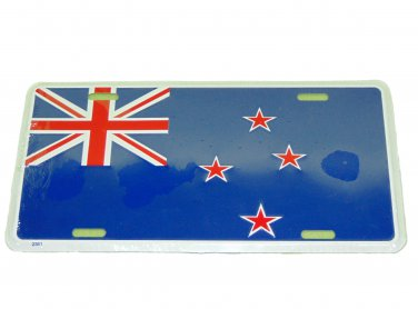 NEW ZEALAND NATIONAL LICENSE PLATE 6 X 12 INCHES NEW ALUMINUM