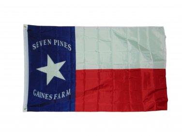TEXAS SEVEN PINES FLAG 3 X 5 3X5 FEET POLYESTER NEW HOODS BRIGADE