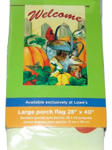 WELCOME CARDINAL GARDEN VEGETABLES GARDEN FLAG SIZE 28 X 40 INCHES TWO SIDED NWT