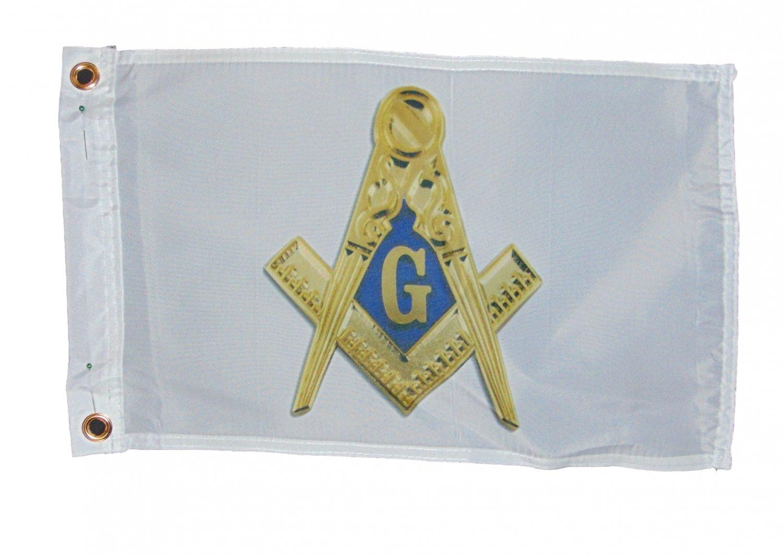 FREEMASONS MASONS ONE SIDED FLAG POLYESTER 12 X 18 INCHES SAIL BOAT