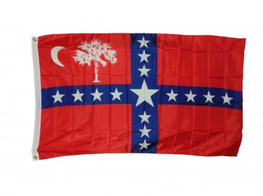 SOUTH CAROLINA SOVEREIGNTY FLAG SIZE 3 X 5 FEET 2 GROMETS POLYESTER NEW