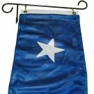 BONNIE BLUE TRIPLE KNIT POLYESTER FLAG 12 X 18 INCHES WITH TWO FLAG CLIPS