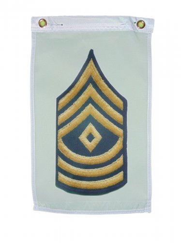 U.S. ARMY FIRST SERGEANT GARDEN FLAG DOOR HANGAR 12 X 18 INCHES 2 GROMMETS