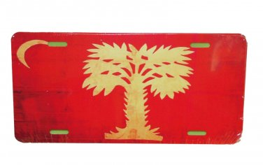 CITADEL BIG RED SOUTHERN PRIDE FLAG LICENSE PLATE 6 X 12 INCHES NEW