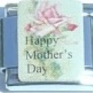 HAPPY MOTHER'S DAY PINK ROSE 9MM ITALIAN CHARM LINK