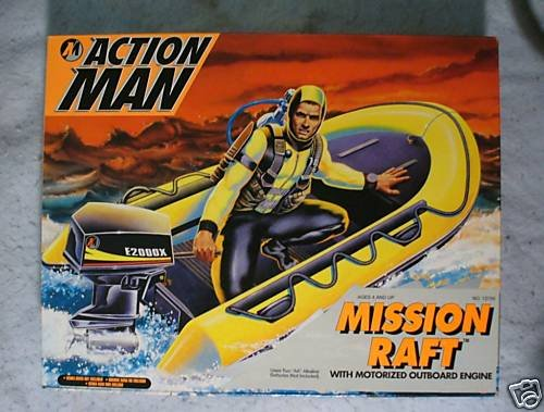 12 inch Action Man Mission Raft  MIB !