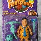 Flintstones Hard Hat Fred on Lawn Mowin Barney card MOC