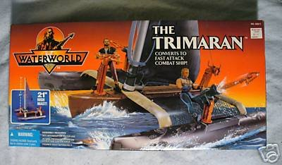 Waterworld Movie  The Trimaran Ship MIB very Cool!