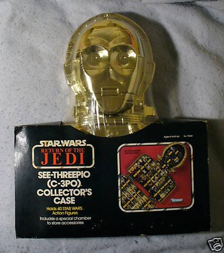 Star Wars Vintage C-3PO See-Threepio Case Sealed MIP