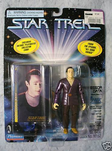 Star Trek Professor Data  Playmates  MOC