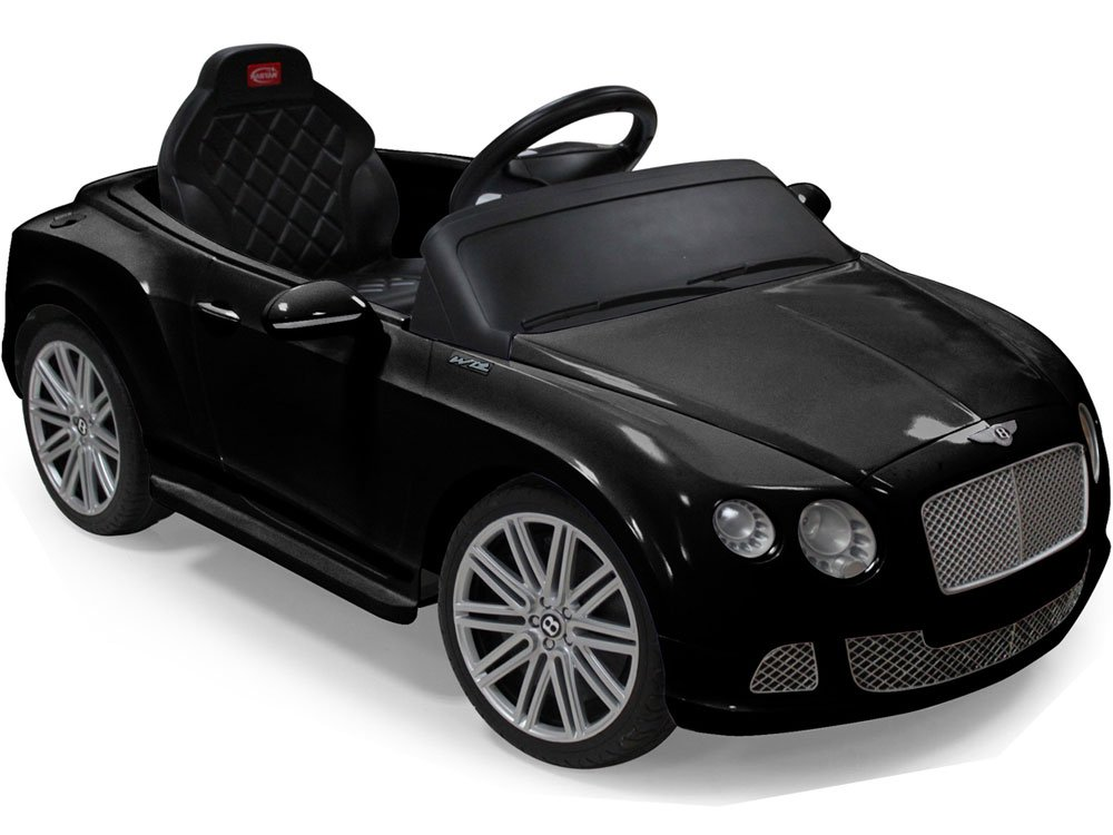 Rastar bentley gtc 2 in 1 ride on toy abs play car black for Motorized cars for older kids