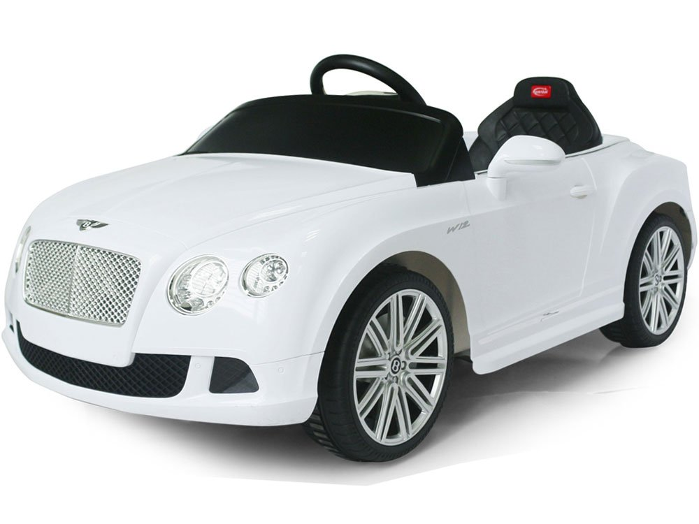 RASTAR Bentley GTC 12V Car 2-In-1 Ride On Toy ABS White
