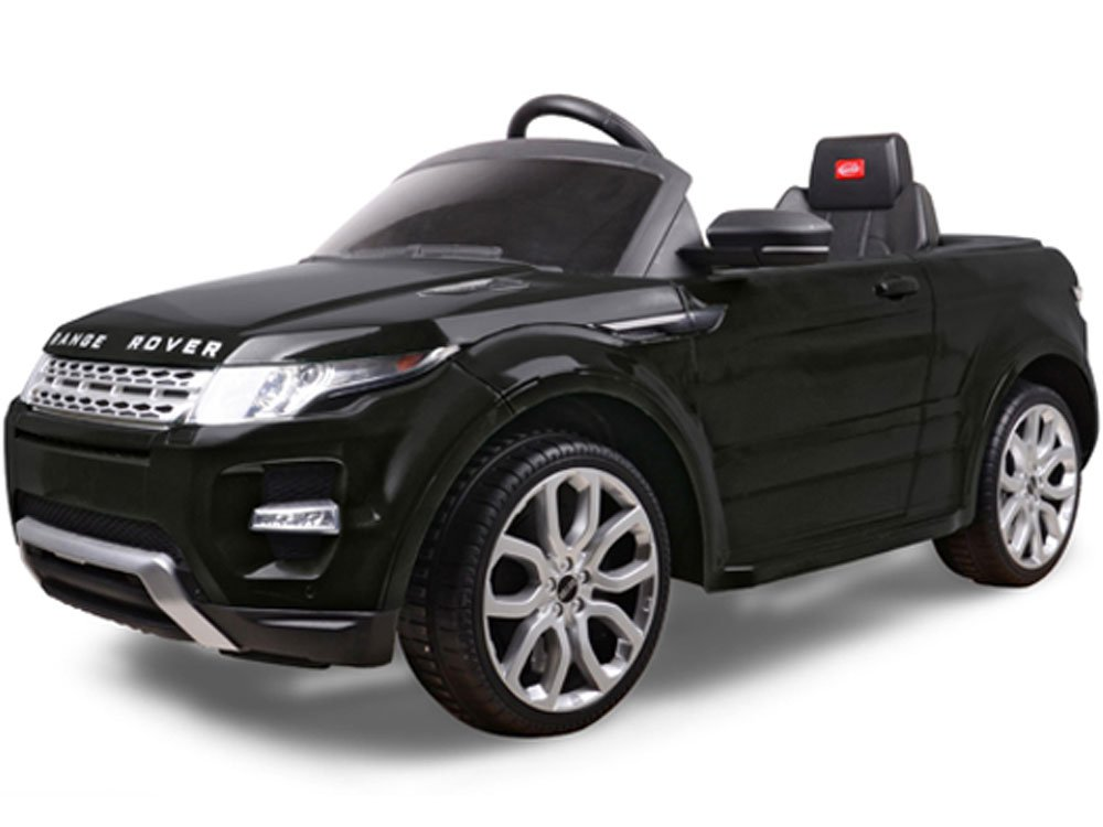 rastar land rover evoque 12v ride on toy car remote control black. Black Bedroom Furniture Sets. Home Design Ideas