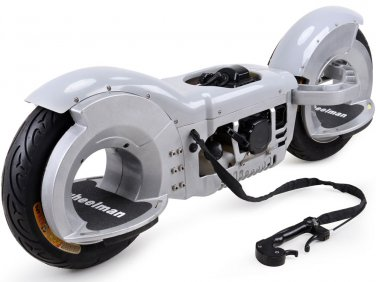 Gas Powered Skateboard 50cc Right or Left Foot WHEELMAN Silver