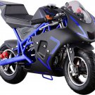 NEW Super Blue Pocket Bike 40cc Gas Powered CALI by MOTOTEC Age 13+