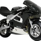 Pocket Bike 33cc 2-Stroke Gas Powered Pull Start Moto Tec Black Ages 13+