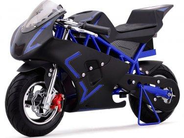 Super Pocket Bike California 36V Blue Electric MOTOTEC Age 13+