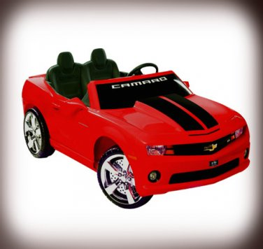 Chevy Camaro 12V Car 2-Seater Ride On Toy Red Battery Operated with FM Radio & MP3 Outlet