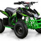Mini Quad ATV 24v Green Battery Powered Powersports
