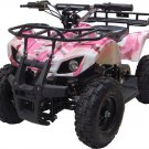Mini Quad ATV 24v Pink Camo Battery Powered Powersports