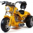 YELLOW Hawk Single Seater 12V Ride-On Motorcycle by Mini Motos