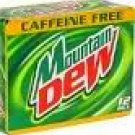 Mountain Dew Caffeine Free 24 cans fresh soda