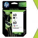 Genuine NIB HP 60 Combo CD947FN Black & Tri-Color Ink