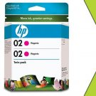 Genuine NIB HP 02 Twin CD997FN Magenta Ink Cartridge
