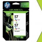 Genuine NIB HP 57 Twin C9320FN Color Ink C6657AN