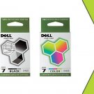 2 Pack Dell DH828 DH829 Black Ink Series 7 Dell 966 968