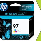 Genuine New HP 97 C9363WN Tri-Color Ink Cart GRTD